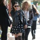 Vanessa Hudgens meets a friend for lunch at Aroma Cafe in Studio City, California on February 5, 2014