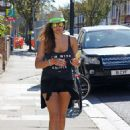 Imogen Thomas Out and About In London