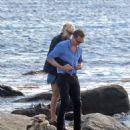 Taylor Swift and Tom Hiddleston on a beach near her Rhode Island home, June 15th 2016