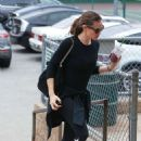 Jennifer Garner in Black Spandex Out in Brentwood