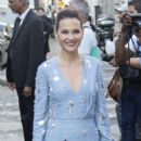 Virginie Ledoyen – Arriving at Vogue Dinner Party in Paris - 454 x 681