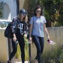 Nina Dobrev in Jeans out in LA - 454 x 542