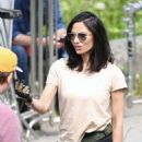 Olivia Munn on set of 'The Predator' in Vancouver - 454 x 681