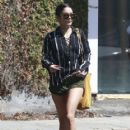 Vanessa Hudgens stops by the Alfred Coffee  while out and about in West Hollywood, California on September 15, 2016