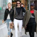Kendall Jenner and Hailey Baldwin are seen in Los Angeles.December 17, 2014