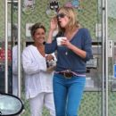 Sharon Stone: gets some frozen yogurt in Los Angeles