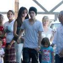 Justin Bieber and Selena Gomez at Sushi Dan in Studio City (July 27)