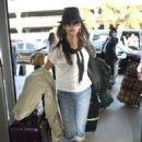 Camilla Belle at LAX airport to catch a flight out