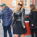 Mariah Carey in Mini Dress and Leather Jacket – Leaving Sant Ambroeus West Village in NYC