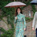 Kate Middleton at Sunken Garden at Kensington Palace in London - 454 x 681