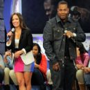"Rocsi Diaz on the set of BET's ""106 & Park"" at BET Studios on February 2, 2012 in New York City"