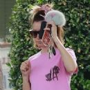 Ashley Tisdale – Heading to a Spa in Los Angeles