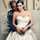 Kim Kardashian Kanye West Vogue Us Magazine Cover April 2014