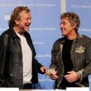 Robert Plant and Roger Daltrey pose at a press conference to announce the Daltrey/Townsend Teen & Young Adult Cancer Program at UCLA on November 4, 2011 in Los Angeles, California - 454 x 327