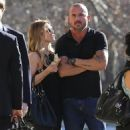 Actor Dominic Purcell cozies up to a mystery girl after enjoying lunch with her at Granville in Studio City, California on January 14, 2015 - 454 x 567