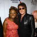 Guitarist Richie Sambora and Singer-songwriter Ledisi pose backstage at the Songwriters Hall Of Fame 46th Annual Induction And Awards at Marriott Marquis Hotel on June 18, 2015 in New York City. - 419 x 600