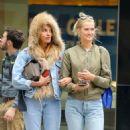 Toni Garrn and Alina Baikova out in New York - 454 x 536