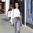 Mara Teigen in Ripped Jeans – Out in Beverly Hills - 454 x 673