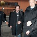 Keanu Reeves arrives at Budapest Airport.( February 16, 2012)
