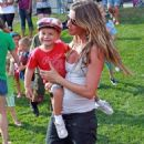 Gisele Bundchen: to the New England Patriots Training Camp in Foxborough