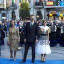 King Felipe and Queen Letizia :  'Princesa De Asturias' Awards 2017 - Day 2 - 454 x 302