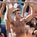 Zac Efron filming a shirtless scene for the upcoming 'Baywatch' film in Miami, Florida on March 8, 2016