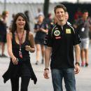 Marion Jollès and Romain Grosjean - 454 x 656