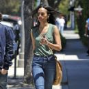 Zoe Saldana leaving a meeting in Beverly Hills