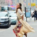 Joan Smalls – Doing a photoshoot in New York - 454 x 604