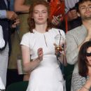 Eleanor Tomlinson attends Wimbledon - July 2, 2015
