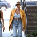 Hailey Bieber – Out with her stylist in West Hollywood