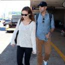 Olivia Wilde and Jason Sudeikis Arrive in LA