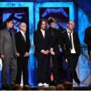 Metallica at the 24th Annual Rock and Roll Hall of Fame Induction Ceremony at Public Hall on April 4, 2009 in Cleveland, Ohio. - 454 x 310