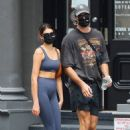 Kaia Gerber with Jacob Elordi Seen out for a workout in New York