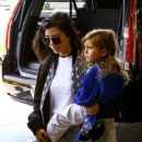Kourtney Kardashian was seen with her son Mason Disick at the airport in Miami, Florida on May 2, 2016