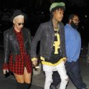 Amber Rose and Wiz Khalifa at the Jay Z Concert at the Staples Center in Los Angeles, California - December 9, 2013 - 454 x 611