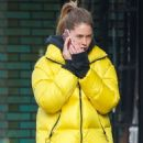 Doutzen Kroes in Yellow Jacket – Out in New York City
