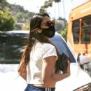 Olivia Munn – Looks sporty wearing Addidas while leaving a nail salon in Studio City - 454 x 681