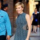 Scarlett Johansson At The Late Show With Stephen Colbert' TV show in New York City - 454 x 564