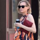 Diane Kruger in Flower Maxi Dress – Out in New York - 454 x 681