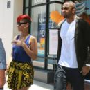 Rihanna And Matt Kemp Shopping At The AT&T Store In Westwood - June 24, 2010