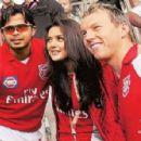 Brett Lee and Preity Zinta
