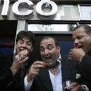 Boston: From left to right: Danny Terrio, Nick Varano and Tiny Tavares celebrate the opening of Nico. - 315 x 275
