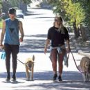 Hilary Duff with her boyfriend out in Los Angeles - 454 x 340