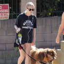 'Ted 2' actress Amanda Seyfried and her dog Finn enjoy a hike together in West Hollywood, California on October 23, 2014