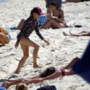 Sheryl Crow at the beach in Perth