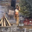 Lais Ribeiro Shooting a commercial for Victoria Secret's upcoming holiday catalog in Aspen - 454 x 487