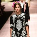 Barbara Palvin walks the runway at the Dolce & Gabbana show during Milan Fashion Week S/S 2019 in Milan, Italy