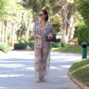 Chloe Goodman – Wears a zebra print jumpsuit out in Dubai - 454 x 382