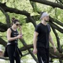 Lea Michele Walk In The Park In New Orleans